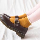 jk襪子女短襪洛麗塔蕾絲木耳花邊襪可愛日系ins潮中筒襪秋冬純棉-米蘭街頭