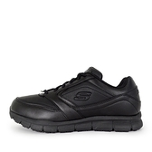 Skechers Nampa [77156WBLK] 男鞋 工作鞋 耐油 止滑 橡膠 防觸電 輕量 避震 緩衝 舒適 黑