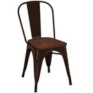 餐椅 SB-423-13 強尼咖啡色木面餐椅【大眾家居舘】