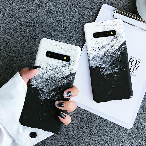 現貨 山水畫墨 三星 Note 9 10 Plus + 手機殼 磨砂 防指紋 保護殼 超薄 硬殼 保護套