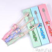 兒童牙刷 小麥秸稈創意卡通小頭細毛軟毛兒童牙刷3-6-12歲小孩寶寶6支套裝 寶貝計畫