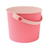 【促銷】日本優秀設計獎賞HACHIMAN時尚M型8公升收納桶(粉紅色系)