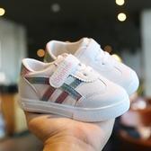 女寶寶小白鞋軟底不掉單鞋一歲半學步鞋子小童男潮春秋季840