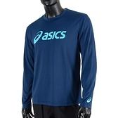 Asics T-Shirts [2033B129-400] 男 長袖 T恤 運動 透氣 排汗 吸濕 快乾 抗UV 深藍