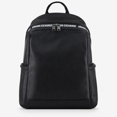 A/X 阿瑪尼AX標識人造皮背包(黑色)