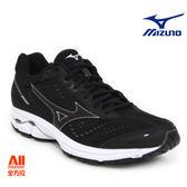 【Mizuno美津濃】女款慢跑鞋 WAVE RIDER 22 寬楦- 黑色(J1GD183209)【全方位運動戶外館】