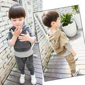 童裝男童新款秋裝套裝2兒童寶寶秋季3-4-5-6歲韓版三件套潮衣  一米陽光