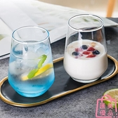 【2個】玻璃杯簡約清新森系杯子耐熱水杯喝水咖啡啤酒杯【匯美優品】