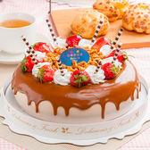 【樂活e棧】母親節造型蛋糕-香豔焦糖瑪奇朵蛋糕(6吋/顆,共1顆)