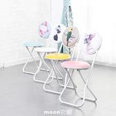 【現貨】 簡約靠背椅子折疊椅便攜小凳子成人加厚折疊凳餐椅電腦椅家用圓凳