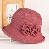 春秋中老年帽子女時裝帽媽媽布盆帽春秋天遮陽禮帽老人帽奶奶婆婆