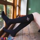 中筒襪襪子女網紅長筒襪子女潮ins中筒襪蜜蜂刺繡小腿襪日系堆堆襪街頭長襪【寶貝 新品】