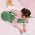 玩偶恐龍毛絨玩具公仔可愛床上陪你睡覺夾腿長條抱枕大玩偶布娃娃女生LX