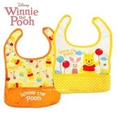 日本限定 DISNEY baby 小熊維尼&小豬 氣球糖罐 兒童 圍兜兜 兩件套組