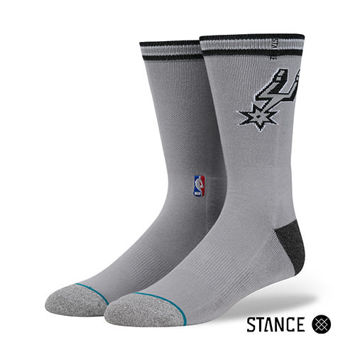 【STANCE】 SPURS CASUAL LOGO-男襪(M558D5SPUR GRY)