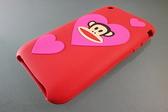 Paul Frank iPhone 4 專用 軟質 矽膠套/矽膠保護殼/保護殼 JULIUS 愛心猴
