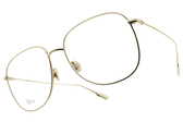 Dior 光學眼鏡 STELLAIRE O8 J5G (淡金) 簡約造型系列 平光鏡框# 金橘眼鏡