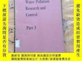 二手書博民逛書店Water罕見Pollution Research and Co