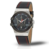 MASERATI 瑪莎拉蒂 POTENZA 黑面潮流時尚腕錶42mm(R8851108001)