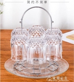 杯架-杯架玻璃杯杯子架子瀝水杯架掛架創意家用放茶杯的茶具收納置物架 花間公主