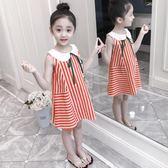 洋裝 女童連身裙夏裝韓版中大童兒童裝純棉小女孩洋氣裙子【全館九折】
