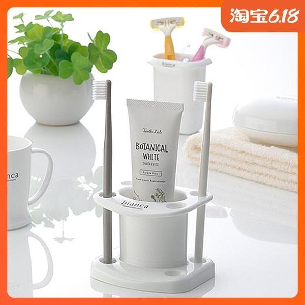 尺寸超過45公分請下宅配日本進口inomata浴室牙刷架牙具座臺面整理架子牙膏架牙刷置物架