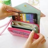 HONEY COMB 出清 韓國多功能手機收納手拿包 四色GT-3260 橘色