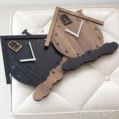mandelda客廳墻面裝飾掛鐘歐式懷舊復古田園壁鐘木質臥室石英鐘錶 igo  全館免運