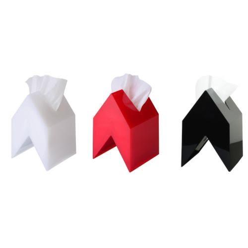 【小福部屋】空運 日本 正品 Banka Vektor 壓克力 房子造型面紙盒套 衛生紙盒 紅/黑/白【新品上架】