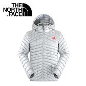 【The North Face 男 ThermoBall暖魔球 保暖兜帽外套 灰白/灰藍】 C938/暖魔球外套