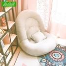 懶人沙發榻榻米可折疊單人臥室陽臺飄窗小沙發可愛床上女孩靠背椅CC5035『麗人雅苑』