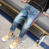 一件免運-牛仔長褲男童褲子夏薄款2018新品韓版兒童裝春秋牛仔褲小腳單褲修身長褲潮