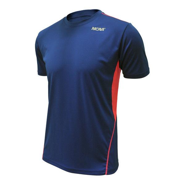 吸濕排汗衣 運動短袖T恤 極致輕量 NCAA(寶藍拼接款)