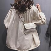寬肩帶斜背ins網紅小包包女包2021新款高級感韓版時尚百搭單肩包 【端午節特惠】