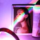 浪漫星空燈彩虹燈拍照韓版投影led小夜燈插電床頭燈創意夢幻網紅 全館滿千折百