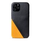 Alto iPhone 12 / 12 Pro 通用款 真皮手機殼背蓋 6.1吋 Metro 360 - 渡鴉黑/焦糖棕【可加購客製雷雕】