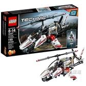 積木機械組42057超輕型直升機Technic積木玩具禮物xw
