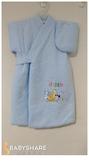 BabyShare時尚孕婦裝【TW8004】台灣製 秋冬加厚新生兒 鋪棉長日本和服 0至4月適穿 綁帶式