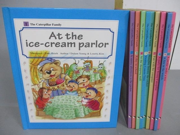 【書寶二手書T3/少年童書_FOL】The Caterpillar Family-At the ice-cream Parlor等_共10本合售