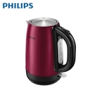 [PHILIPS 飛利浦]1.7公升不鏽鋼快煮壺 勃艮第酒紅金屬 HD9322/32