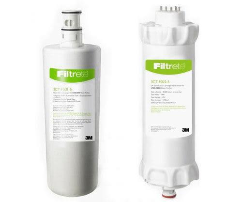 3M UVA2000紫外線淨水器活性碳濾心3CT-F021-5及紫外線燈匣3CT-F022-5【3期零利率】