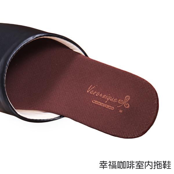 【333家居鞋館】除臭快乾★幸福咖啡室內拖鞋-義式黑