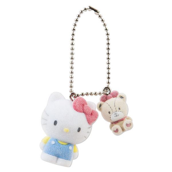 【震撼精品百貨】Hello Kitty 凱蒂貓~麂皮鎖圈-美樂蒂與老鼠