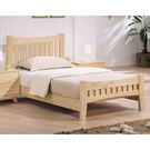 【森可家居】依娜本色3.5尺床台 8HY169-3 單人床 全實木 日式無印北歐風