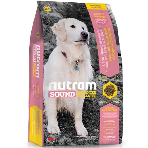 【寵物王國】nutram紐頓-S10健康天然雞肉老犬(雞肉燕麥)13.6kg