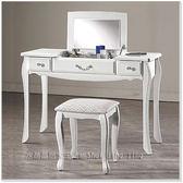 【水晶晶家具/傢俱首選】仙朵拉3.5尺低甲醇掀鏡式兩用化妝台﹝含椅﹞ JM8119-5