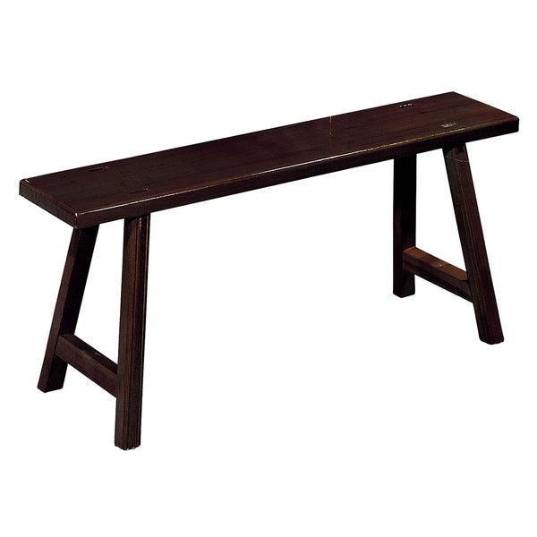 【森可家居】3.5尺長形椅條 7JX244-6 復古中式 木長板凳