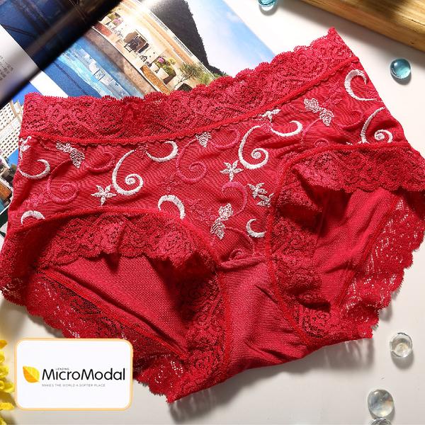 女性中腰蕾絲內褲 莫代爾纖維 台灣製造 No.227-席艾妮SHIANEY