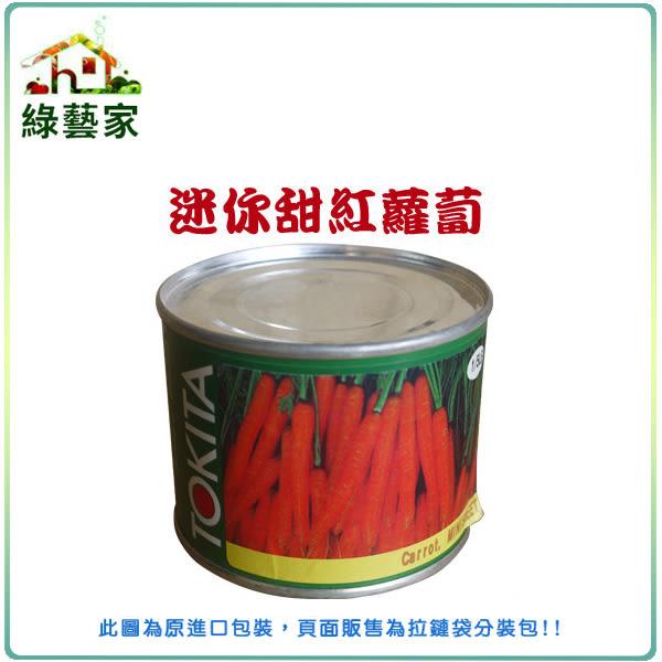 【綠藝家】C16迷你甜紅蘿蔔(胡蘿蔔)種子600顆