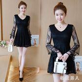 新款洋裝 2019秋裝新款小個子矮150CM155顯高收腰短款洋裝嬌小女裝裙子仙 ZJ4841【極致男人】